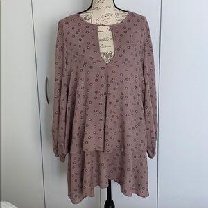 FP Key Hole Happy Boho Mini Dress - M runs L